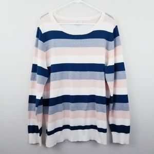 LOFT {Outlet} | Metallic Striped Pullover Sweater